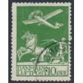 DENMARK - 1925 10øre green Airmail, used – Facit # 213