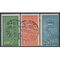 DENMARK - 1929 Cancer Research set of 3, used – Facit # 243-245