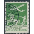 DENMARK - 1925 10øre green Airmail, used – Facit # 213