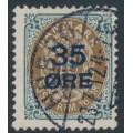 DENMARK - 1912 35øre on 16øre grey-brown Numeral, used – Facit # 47