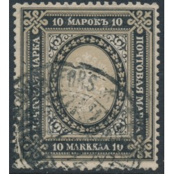 FINLAND - 1903 10Mk black/brownish grey Coat of Arms, used – Facit # 60bvm²