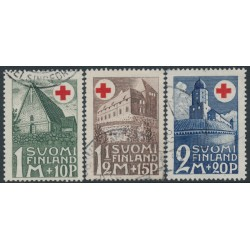 FINLAND - 1931 Red Cross charity set of 3, used – Facit # 168-170