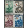 FINLAND - 1938 Red Cross charity set of 4, used – Facit # 208-211