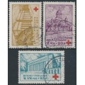 FINLAND - 1932 Red Cross charity set of 3, used – Facit # 177-179