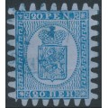 FINLAND - 1867 20Pen blue Coat of Arms on lilac-blue paper, used – Facit # 8v1C3