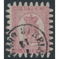 FINLAND - 1867 40Pen light red Coat of Arms on pale rose paper, used – Facit # 9v1C3