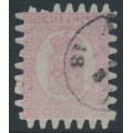 FINLAND - 1867 40Pen carmine-rose Coat of Arms with variety 'white flaw on PEN', used – Facit # 9v1C3 + v8