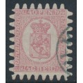 FINLAND - 1867 40Pen pale red Coat of Arms, roulette III, pale red paper, used – Facit # 9v1C3