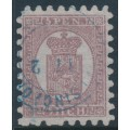 FINLAND - 1871 5Pen purple-brown Coat of Arms, roulette I, pale lilac paper, used – Facit # 5v3C1