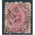 FINLAND - 1879 25Pen carmine Coat of Arms, perf. 11:11, used – Facit # 17Sd