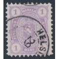 FINLAND - 1877 1Mk lilac Coat of Arms, perf. 11:11, used – Facit # 19SC¹b