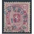 FINLAND - 1875 32Pen carmine Coat of Arms, perf. 14:13½, Copenhagen print, used – Facit # 11