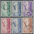 FRANCE - 1936 85c to 3.50Fr Airmail short set of 6, used – Michel # 305-310