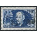 FRANCE - 1938 50Fr dark blue Clément Ader (thick paper), used – Michel # 425b