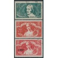 FRANCE - 1935 Intellectuals Welfare Fund set of 2 plus overprint, used – Michel # 303-304 + 335