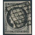 FRANCE - 1849 20c black Cérès on white paper, imperforate, used – Michel # 3x