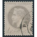FRANCE - 1866 4c grey Emperor Napoléon with laurel wreath, perf. 14:13½, used – Michel # 26b