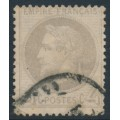 FRANCE - 1866 4c yellowish grey Emperor Napoléon with laurel wreath, perf. 14:13½, used – Michel # 26c