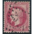 FRANCE - 1868 80c carmine-rose Emperor Napoléon with laurel wreath, perf. 14:13½, used – Michel # 31
