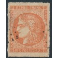FRANCE - 1871 40c orange Cérès (Bordeaux printing), imperforate, used – Michel # 43a