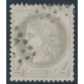 FRANCE - 1872 4c grey Cérès, perf. 14:13½, used – Michel # 47