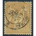 FRANCE - 1878 3c yellow-brown on yellowish paper Peace & Commerce, used – Michel # 70