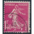 FRANCE - 1926 1.40Fr pink Semeuse, used – Michel # 191