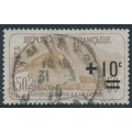 FRANCE - 1922 50c+10c brown War Widows Charity, used – Michel # 149