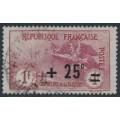 FRANCE - 1922 1Fr+25c carmine War Widows Charity, used – Michel # 150