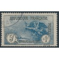 FRANCE - 1926 5Fr+1Fr dark blue War Widows Charity, used – Michel # 214