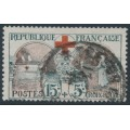 FRANCE - 1918 15c+5c grey/red Red Cross, used – Michel # 136