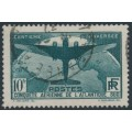 FRANCE - 1936 10Fr deep green Crossing of the South Atlantic, used – Michel # 327