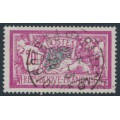 FRANCE - 1926 20Fr pink/green-blue Merson, used – Michel # 183