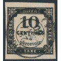 FRANCE - 1859 10c black Postage Due (typographed), imperforate, used – Michel # P2