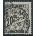 FRANCE - 1882 20c black Postage Due, used – Michel # P17