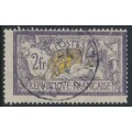 FRANCE - 1900 2Fr violet/yellow Merson, used – Michel # 99