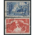 FRANCE - 1935 Intellectuals Welfare Fund set of 2, used – Michel # 303-304