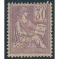 FRANCE - 1900 30c pale violet Human Rights issue, numeral in a square, MH – Michel # 95I
