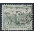 FRANCE - 1917 15c+10c grey-green War Orphans Charity, used – Michel # 130