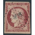 FRANCE - 1849 1Fr brown-carmine Cérès, imperforate, used – Michel # 7b