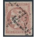FRANCE - 1870 80c rose Cérès (Bordeaux printing), imperforate, used – Michel # 44a