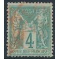 FRANCE - 1876 4c green Peace & Commerce (type I), used – Michel # 58I
