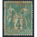 FRANCE - 1876 4c green Peace & Commerce (type I), used – Michel # 58I