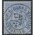 FRANCE - 1876 25c ultramarine Peace & Commerce (type I), used – Michel # 63I