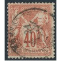 FRANCE - 1878 40c vermilion on fawn Peace & Commerce (type I), used – Michel # 65I