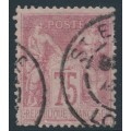 FRANCE - 1885 75c carmine-rose Peace & Commerce (type II), used – Michel # 66II