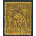 FRANCE - 1878 35c black on orange Peace & Commerce, used – Michel # 75b