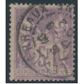 FRANCE - 1877 5Fr red-violet Peace & Commerce, used – Michel # 76