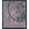 FRANCE - 1877 5Fr violet Peace & Commerce, used – Michel # 76