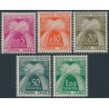 FRANCE - 1960 5c to 1Fr New Currency Postage Dues set of 5, MNH – Michel # P93-P97
